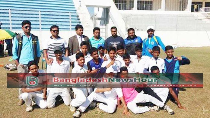 অনুর্ধ-১৪ ক্রিকেটে সিলেটকে হারিয়ে চ্যাম্পিয়ন হবিগঞ্জ
