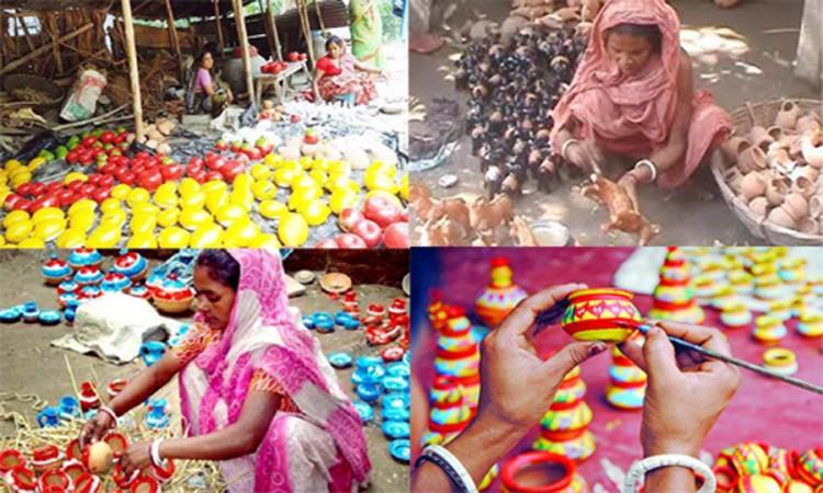 গোপালগঞ্জের কুমারপাড়া গুলিতে চলছে নববর্ষের ব্যস্ততা