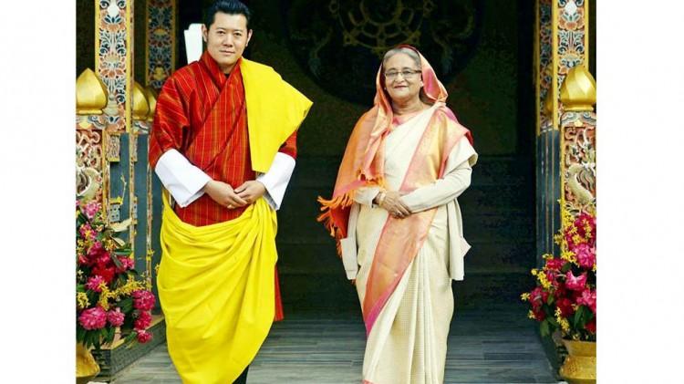 বাংলাদেশ ও ভুটানের মধ্যে  ৫টি চুক্তি ও সমঝোতা স্মারক স্বাক্ষর