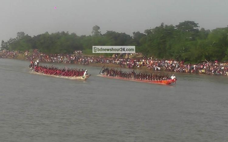 রৌমারীতে নৌকাবাইচ খেলার ফাইনাল অনুষ্ঠিত