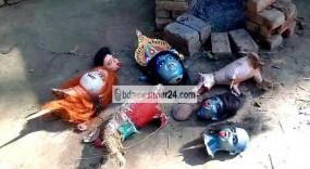 আত্রাইয়ে কালি মন্দিরের মূর্তি ভাংচুর