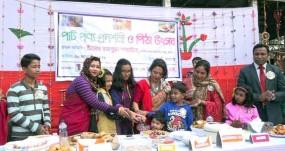 কুড়িগ্রামের উলিপুরে গ্রামীণ নারীদের তৈরী পাট পণ্য প্রদর্শনী ও পিঠা উৎসব অনুষ্ঠিত