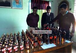 সুনামগঞ্জে ১৪ লাখ টাকার ভারতীয় মদের চালান আটক