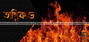 নয়াপল্টনের সিটি হার্ট শপিং কমপ্লেক্সে আগুন