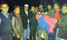 কমলগঞ্জে শীতার্তদের উষ্ণতা দিতে শীতবস্ত্র দিলো শসাফো