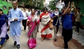 খুলনা সিটি নির্বাচনে নিএনপি প্রার্থী নজরুল ইসলাম মঞ্জুকে ভোট দিন : এ্যাড. বিলকিস জাহান