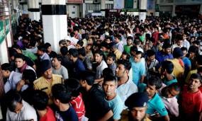 'সোনার হরিণ' পেতে কমলাপুরে জনসমুদ্র
