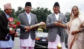 নেপালে প্রধানমন্ত্রীকে লালগালিচা সংবর্ধনা