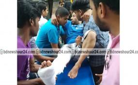 পিরোজপুর উপজেলা চেয়ারম্যানের সহকারী আহত : ঢাকা পঙ্গুতে প্রেরণ