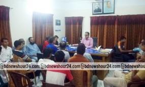 নকলায় সাংবাদিকদের সাথে নয়া ওসি'র মতবিনিময়