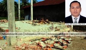 পিরোজপুরে ইউপি চেয়ারম্যানের বিরুদ্ধে মন্দির ভাংচুরের অভিযোগ