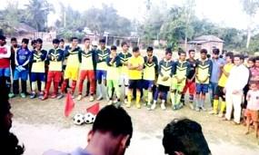 নবাবগঞ্জে ফুটবল টুর্নামেন্টের ফাইনাল খেলা অনুষ্ঠিত