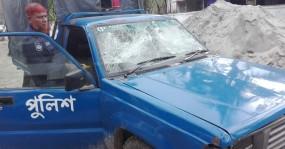 টাঙ্গাইলে পুলিশের গাড়িতে হামলা, ৪ পুলিশ সদস্য আহত