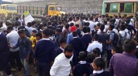 'স্কুলছাত্র ওমরের' হত্যাকারীদের শাস্তির দাবিতে কালিয়াকৈরে বিক্ষোভ