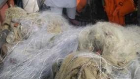 জাটকা ধরার সময় 'কারেন্ট জাল জব্দ'