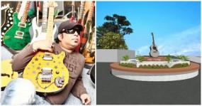 নির্মিত হচ্ছে আইয়ুব বাচ্চু চত্বর, থাকবে রুপালি গিটারও