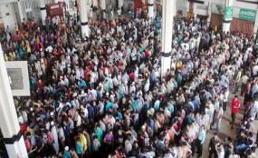 শেষ দিনেও কমলাপুরে জনসমুদ্র