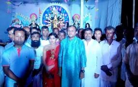 কালিয়াকৈরে পূজা মন্ডপে সহযোগীতা করলেন মেয়র প্রার্থী 'সিকদার জয়'