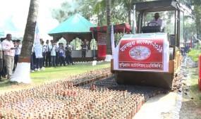 কুড়িগ্রামে ২ কোটি টাকার মাদকদ্রব্য ধ্বংস করল বিজিবি