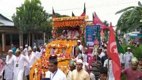 কেন্দুয়ায় জশনে জুলুসে হাজারো ভক্তের ঢল