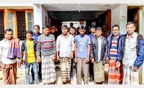 মহম্মদপুরে জুয়ার আসর থেকে ৮ জনআটক, জব্দ নগদ টাকা