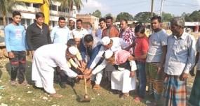 নবাবগঞ্জে মডেল মসজিদের নির্মাণ কাজের উদ্বোধন