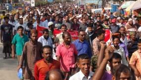 ফের আন্দোলনে নরসিংদীতে পাটকল শ্রমিকরা