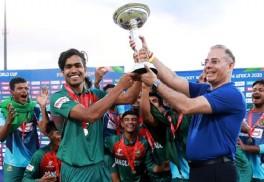 সংবর্ধনা দেওয়া হবে অনূর্ধ্ব-১৯ ক্রিকেট দলকে