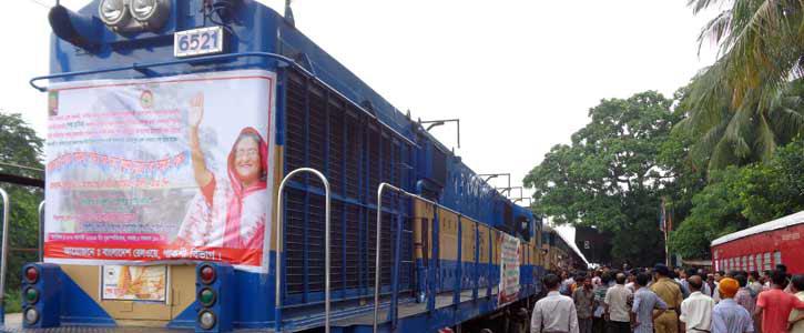 ১৬ বছর পর চালু হলো রাজবাড়ী-ফরিদপুর রেলপথ